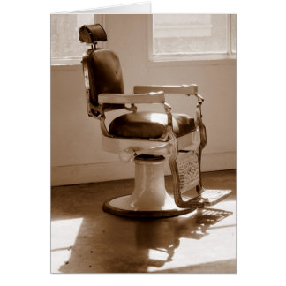 Antique Barber Chair Card