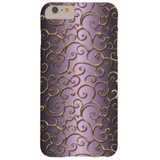 Antique Baroque Faux Gold Ornate Swirl Pattern Barely There iPhone 6 Plus Case