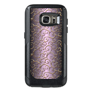 Antique Baroque Faux Gold Ornate Swirl Pattern OtterBox Samsung Galaxy S7 Case