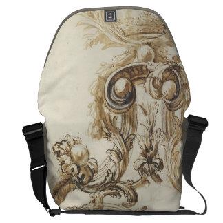 Antique baroque molding courier bag
