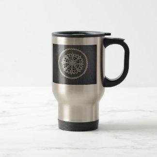 Antique Battenburg Lace Travel Mug