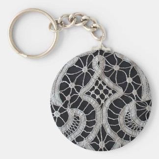 Antique Battenburg Tape Lace Keychain