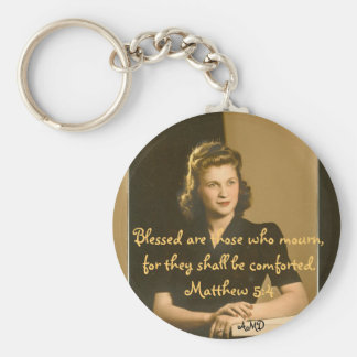 Antique beauty memorial keychain