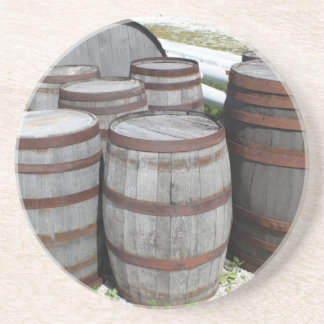 Antique Beer Barrels Photograph Drink Coaster