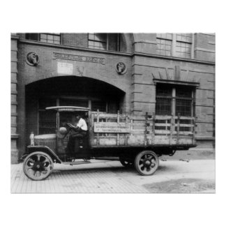Antique Beer Truck, 1920s Poster