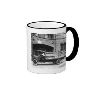Antique Beer Truck, 1920s Ringer Mug