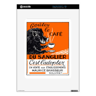 Antique Belgian Coffee Boar Advertising Skins For iPad