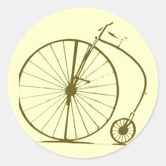 antique bicycle classic round sticker