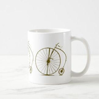 antique bicycle coffee mug