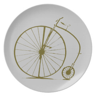 antique bicycle dinner plate