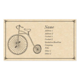 Antique Bicycle Double-Sided Standard Business Cards (Pack Of 100)