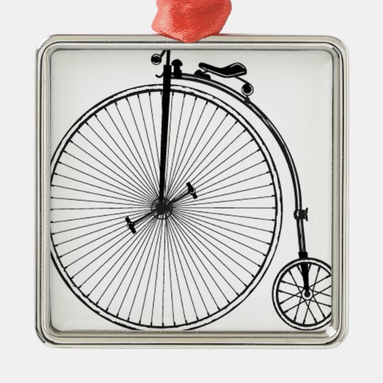 Antique Bicycle Metal Ornament