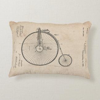 Antique Bicycle Patent Print Accent Pillow