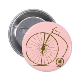 antique bicycle pinback button