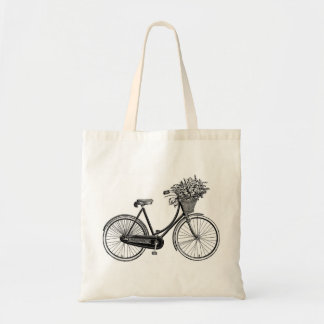 Antique bicycle tote bag