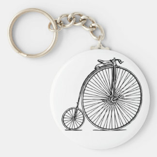 antique bicycle vintage key chain