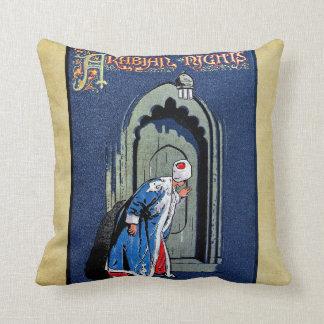 Antique Binding Design Arabian Nights Book Cover Pillow