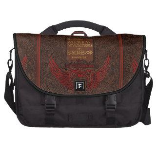 Antique Binding Robin Hood Book Cover Laptop Bag