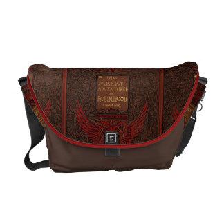 Antique Binding Robin Hood Book Cover Messenger Bag