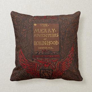 Antique Binding Robin Hood Book Cover Throw Pillow