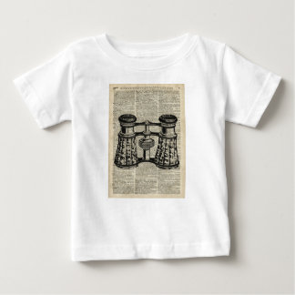 Antique Binoculars On Old Vintage Dictionary Page Baby T-Shirt