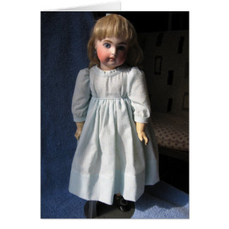 Antique Bisque Doll Greeting Card - Customizable