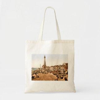 Antique Blackpool British Seaside Budget Tote Bag