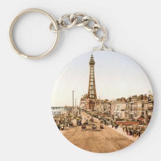 Antique Blackpool British Seaside Basic Round Button Keychain