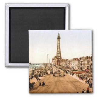 Antique Blackpool British Seaside 2 Inch Square Magnet