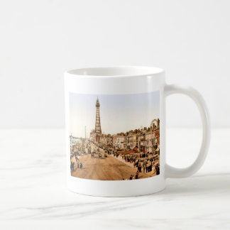 Antique Blackpool British Seaside Classic White Coffee Mug
