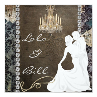 Antique Bling CHANDELIER WEDDING INVITATIONS