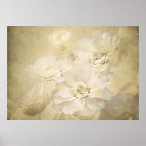 Antique Blossoms Art Print