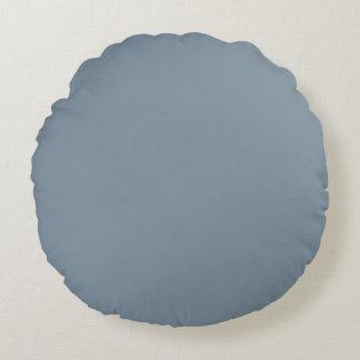 Antique Blue Color Round Pillow