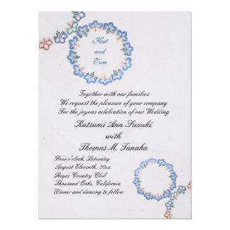 Antique Blue Japanese Imari Snowflake 5.5x7.5 Paper Invitation Card