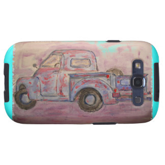 antique blue patina truck galaxy SIII cover