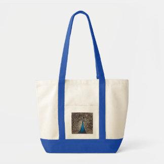 Antique Blue Peacock Tote Bag