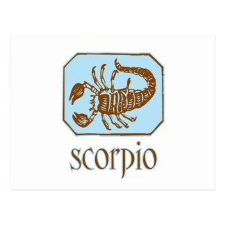 Antique Blue Scorpio Postcard