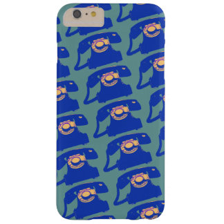 antique blue telephones patterned barely there iPhone 6 plus case