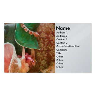 Antique - Bonnets Double-Sided Standard Business Cards (Pack Of 100)