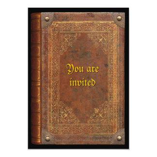 Antique Book 5x7 Paper Invitation Card