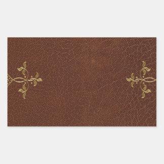 antique book binding rectangular sticker