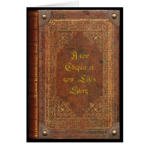 Antique Book (customizable) Cards