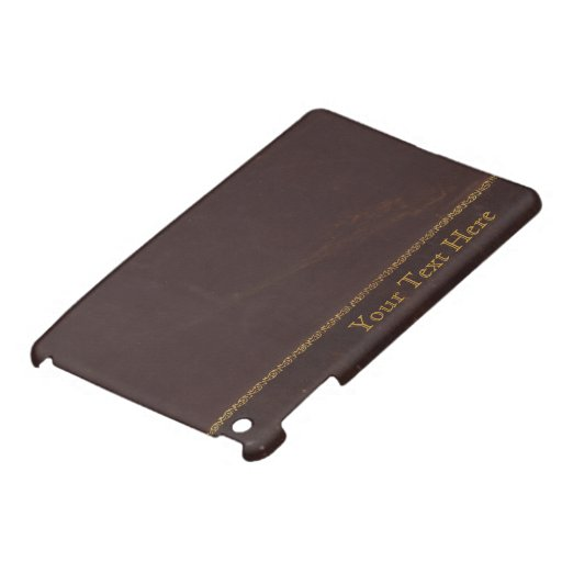 Antique Book faux leather, retro vintage Cover For The iPad Mini