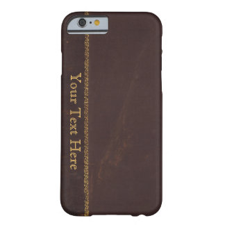 Antique Book faux leather, vintage retro look Barely There iPhone 6 Case