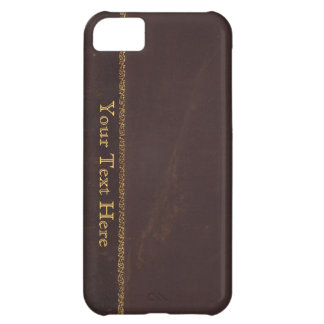 Antique Book faux leather, vintage retro look iPhone 5C Case