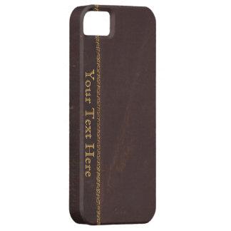 Antique Book faux leather, vintage retro look iPhone SE/5/5s Case
