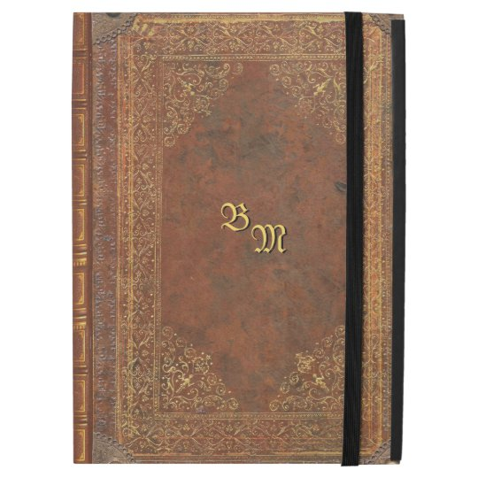 Vintage Book Cover For Ipad : Antique book look with your initials ipad pro quot case