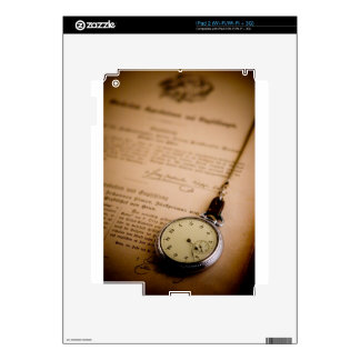 Antique Book Paper Pocket Watch Fob Decal For The iPad 2