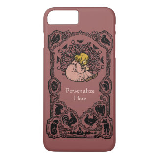 Antique Bookplate Personalized with Text and Color iPhone 7 Plus Case