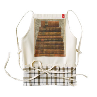 Antique Books Illustration Over Dictionary Page Zazzle HEART Apron